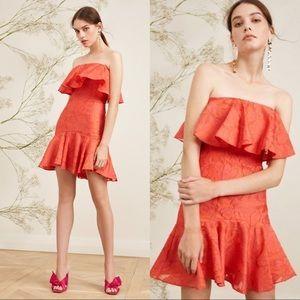 Keepsake The Label Radar Mini Dress Pop Red NEW
